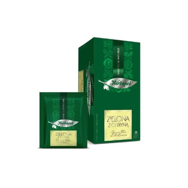 Herbata HERBAPOL zielona z cytryną 2g x 20 szt